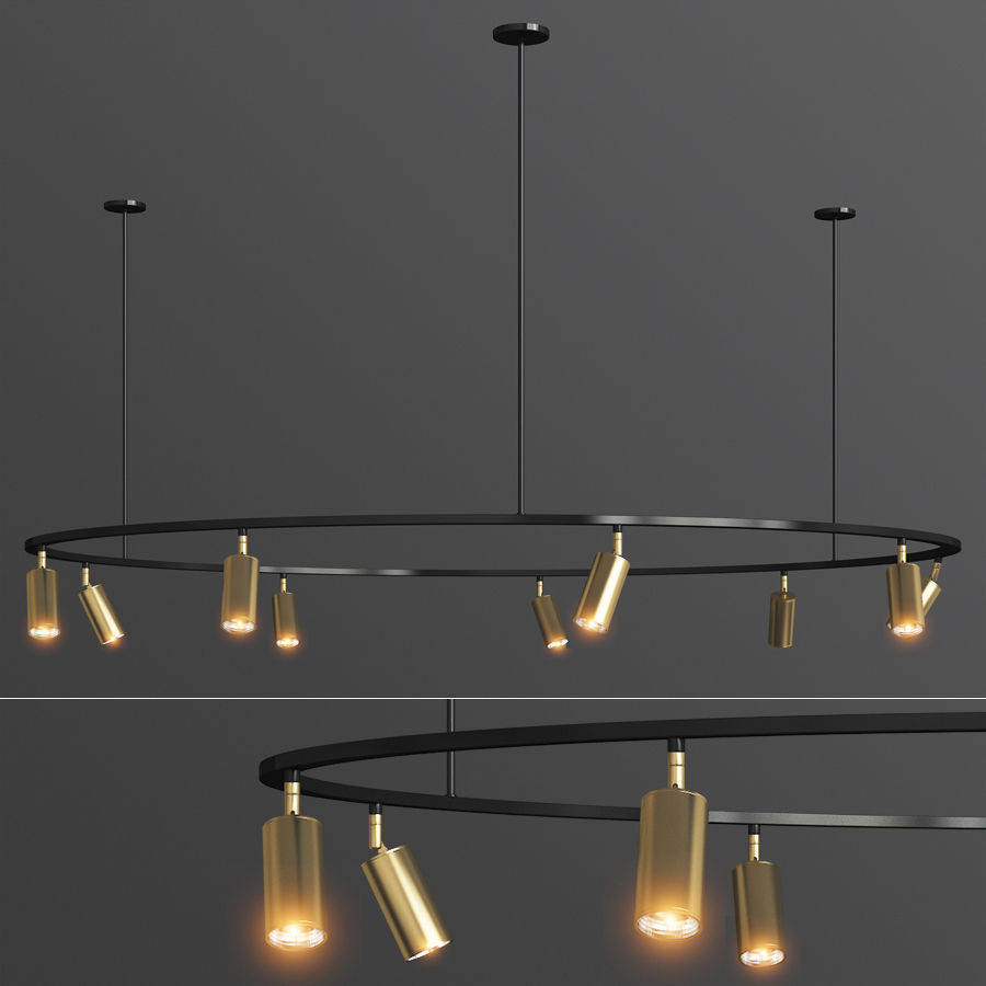 Lino Round Spotlight Pendant Lampatron