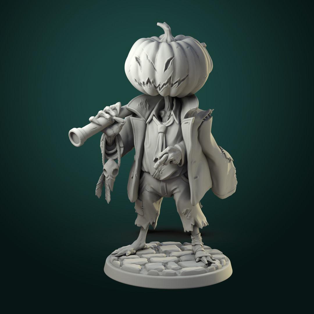 Pumpkin Scarecrow 32mm - 75mm scale