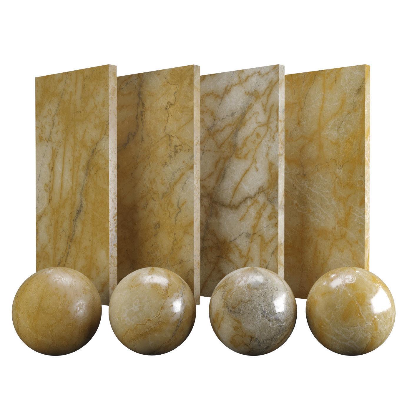 Orange Siena Marble Texture PBR Vray Corona 400 x 400 cm