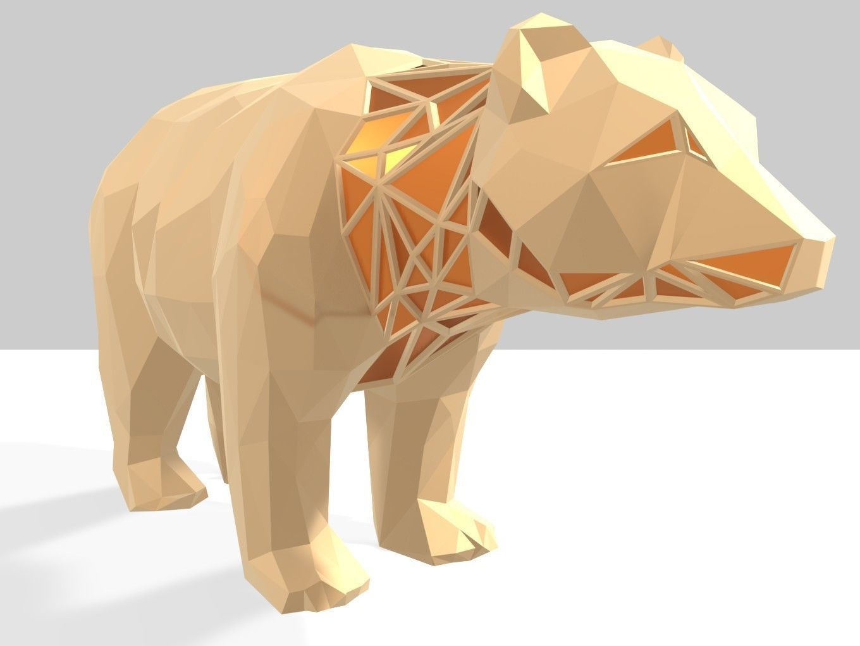 Polygonal Bear Parametric