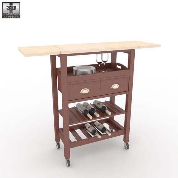 ... Julia Espresso Kitchen Cart 3d Model Max Obj 3ds Fbx Mtl 2 ...