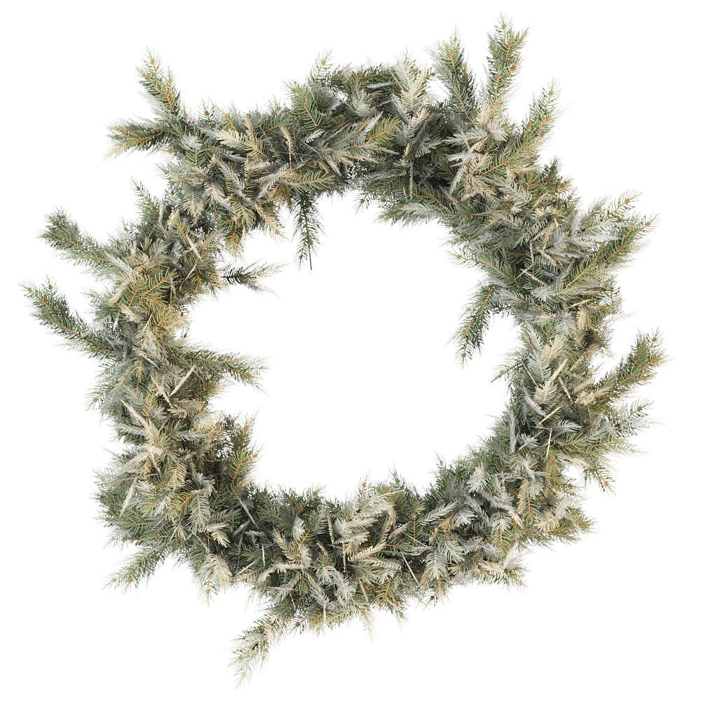 Christmas wreath of coniferous branches