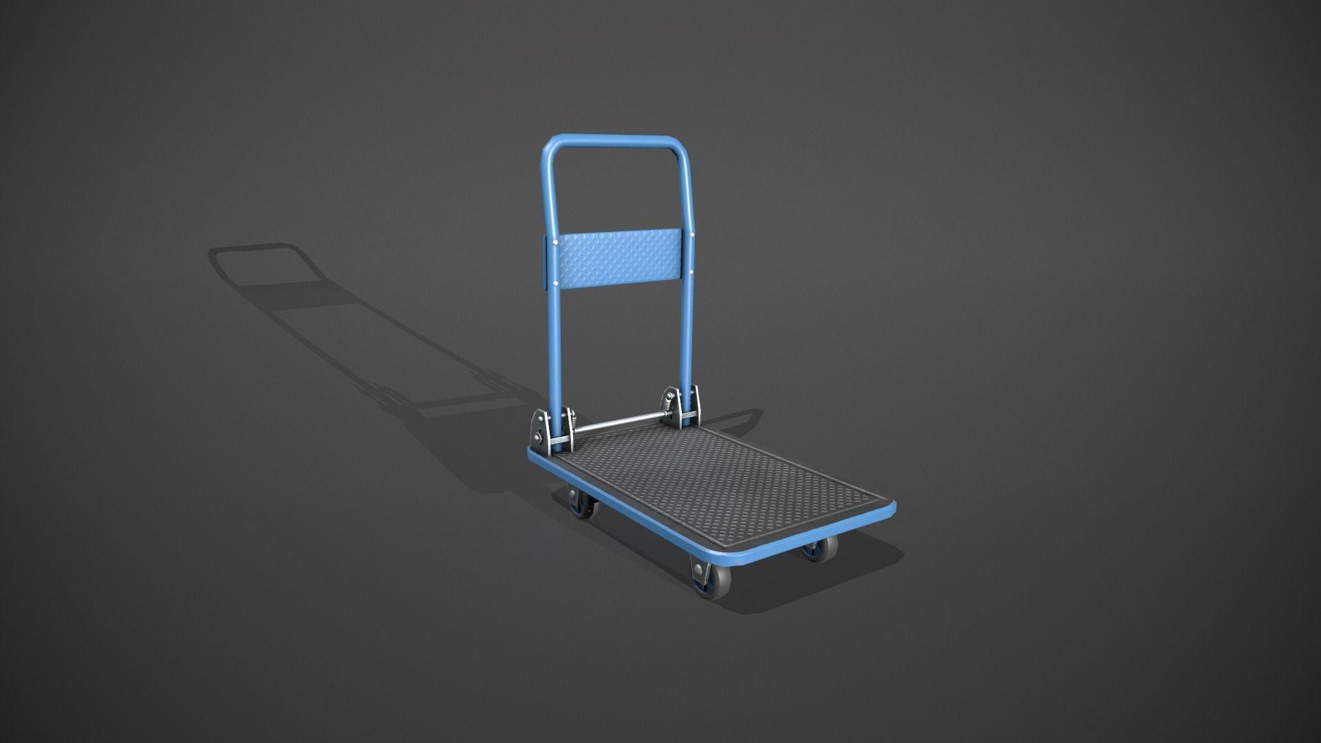 Folding Platform Truck Trolley - Blue