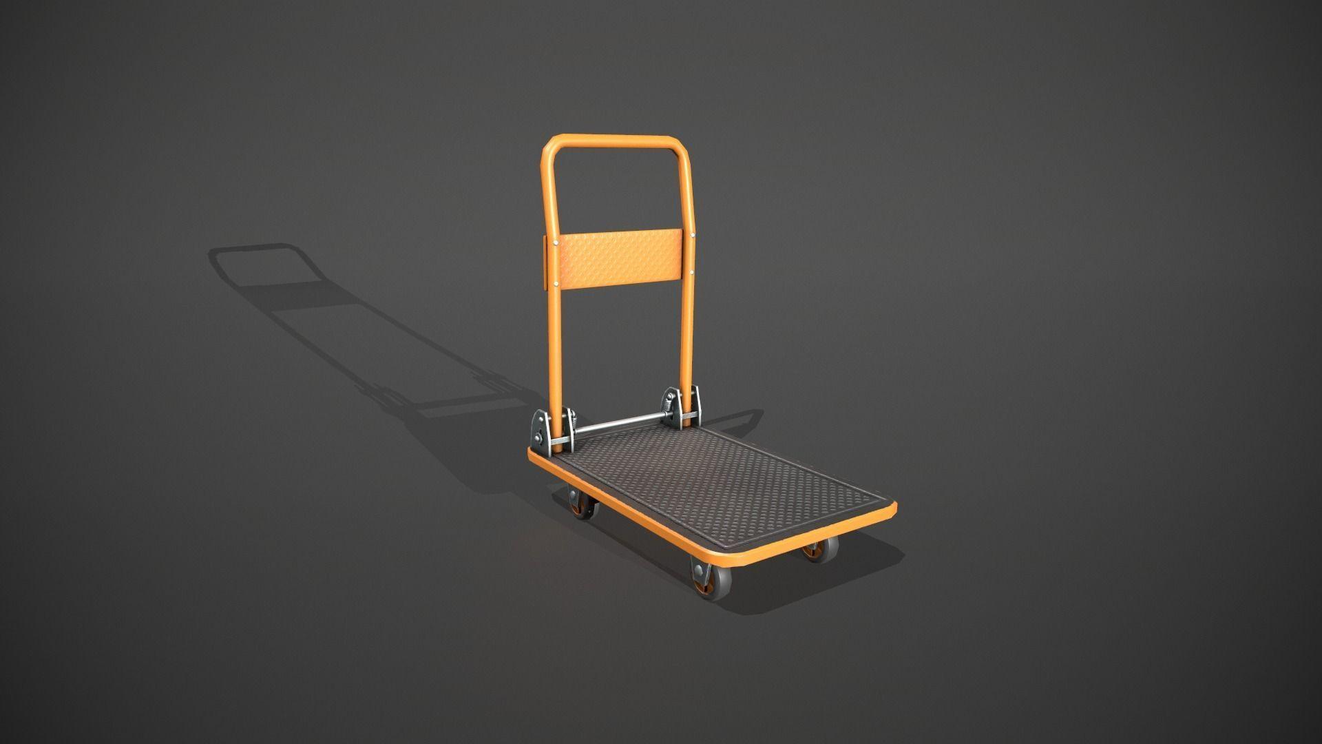 Folding Platform Truck - Trolley - Orange