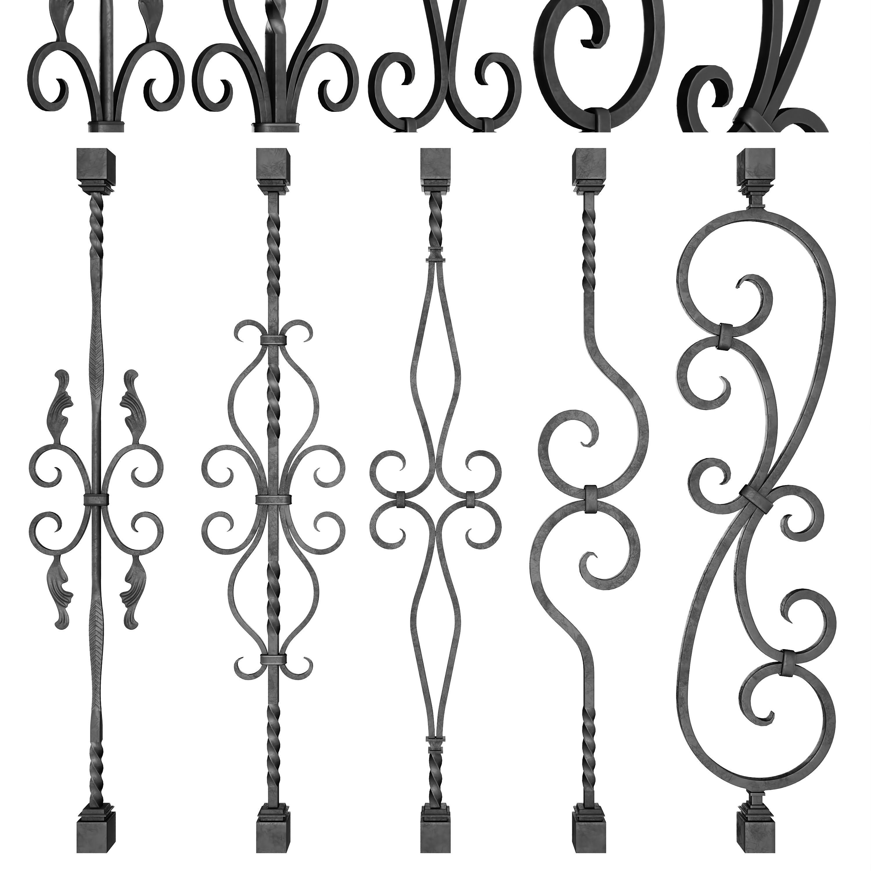 Wrought Iron Bundle No02 Railing