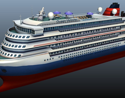 VR / AR ready cruise liner - low poly 3d model