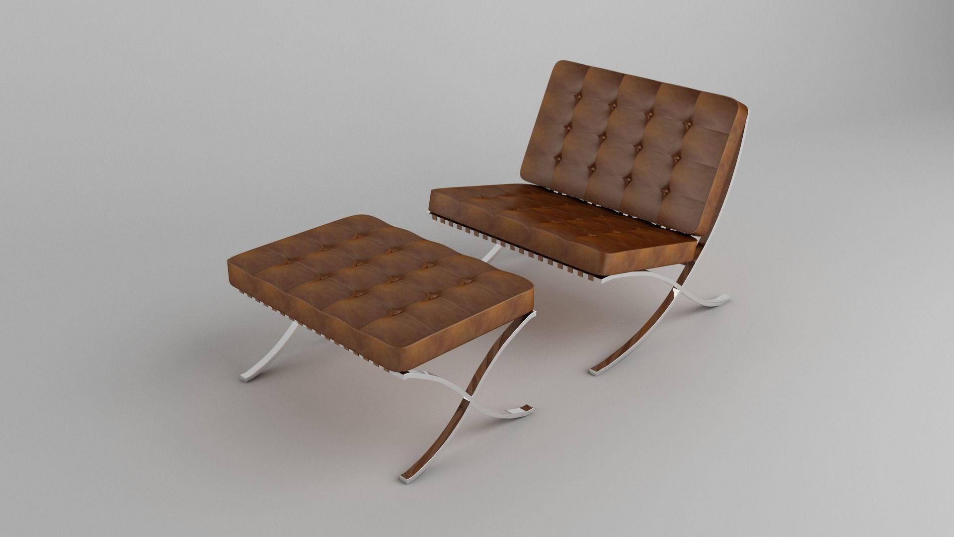 Barcelona Chair Brown Leather