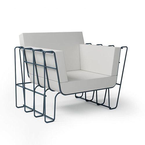 white modern armchair 059 am92 3d model obj 1