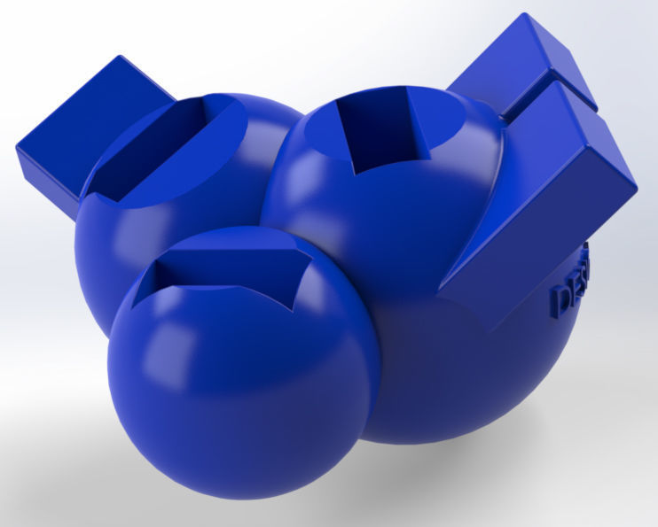 USB Holder in form of three connected balls