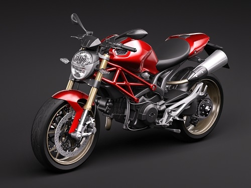 Ducati Monster 1100s 3d Model Max Obj 3ds Fbx C4d Lwo Lw