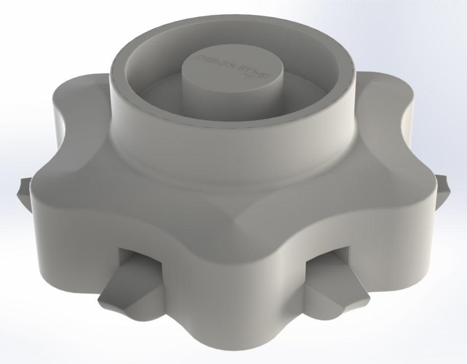 USB Holder in form of hexagonal