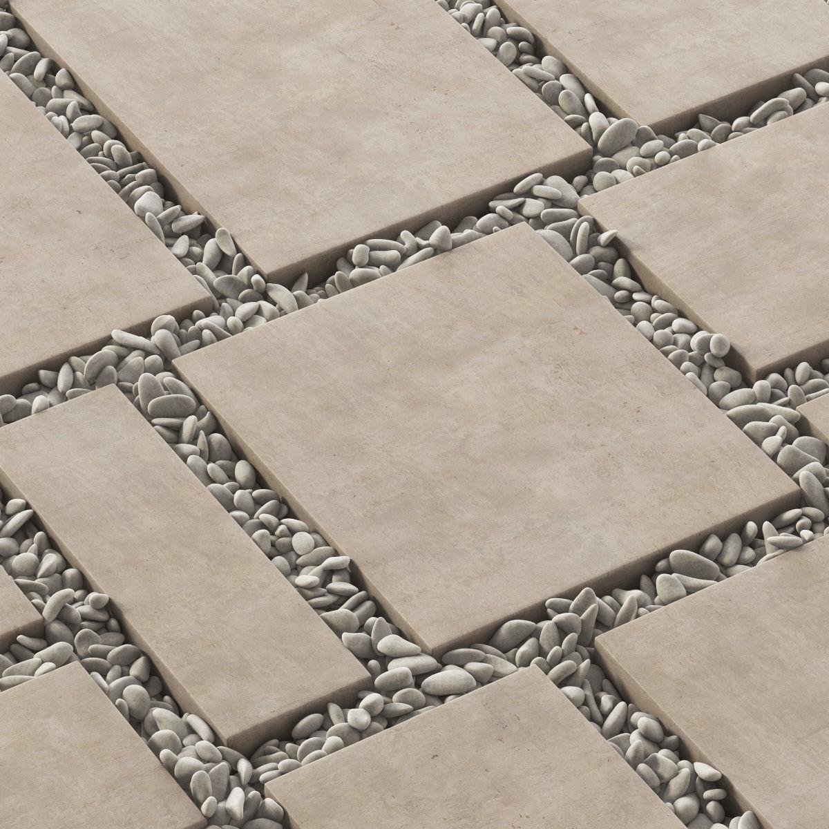 Paving tile square pebble n2