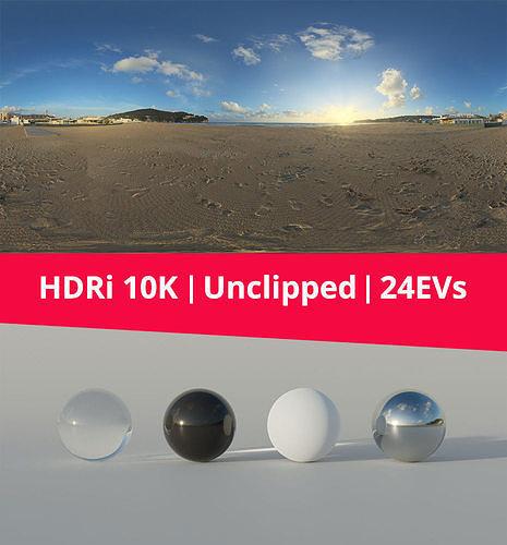 HDRi Beach and sunset