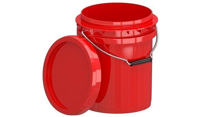 Food Grade 5l Plastic Bucket Red