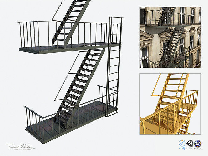 Fire Escape Stairs  Modular