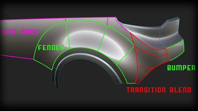 Explanation 3D Automotive Modeling Alias Tutorial Rear Bumper