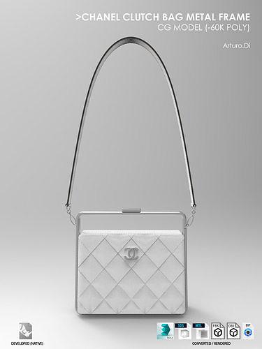 Chanel Clutch bag Metal frame
