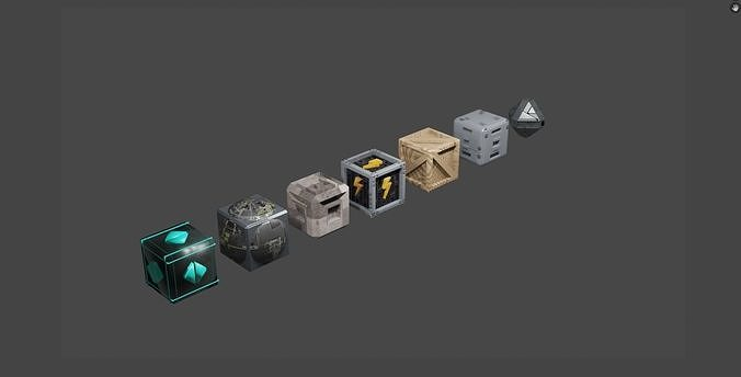 Special Crate And Boxes 3D model