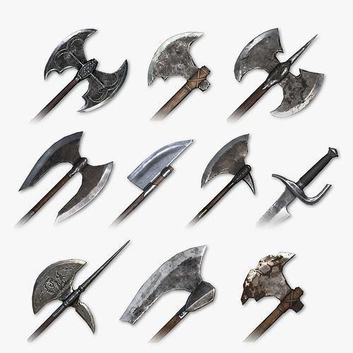 Medieval Cleaving Weapons Pack