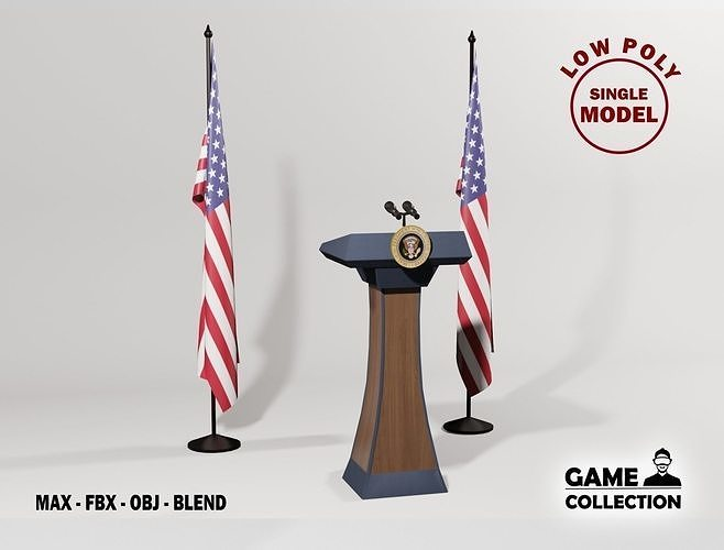 USA Presidential Podium 2
