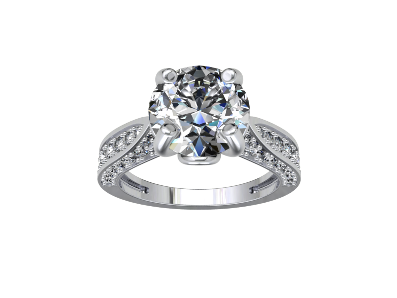 Wedding Classic Ring Solitaire 3D Model 3D Printable STL