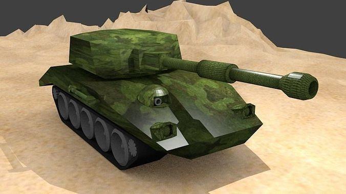 Tank Low-poly 3D model