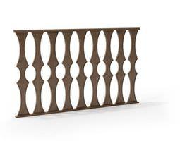 Classic baroque railing 102 am79 3D model