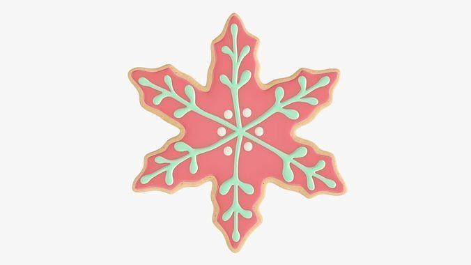 Cookie snowflake Christmas