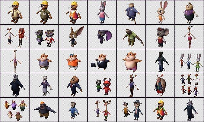 Cartoon Character - Zoo-topia