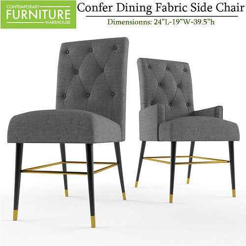 Confer Dining Fabric Side Armchair
