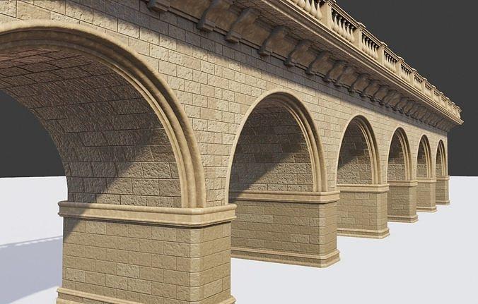 arched brick medieval bridge