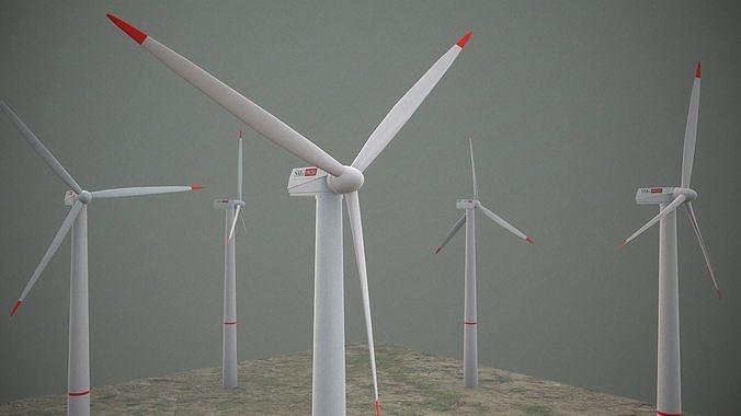 Animated wind turbine model