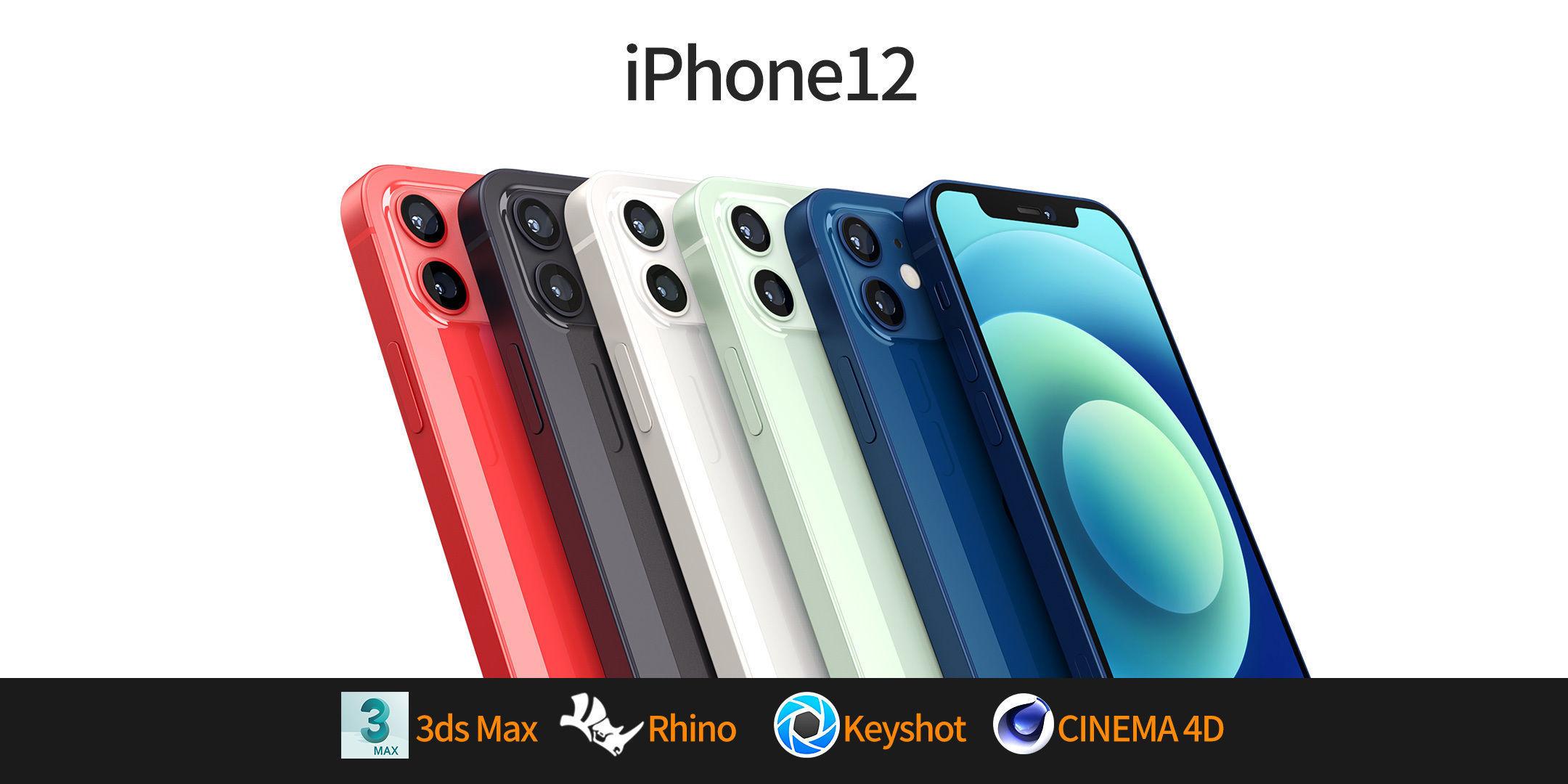 Apple iphone 12 mobile phone 3D model 3D model 3D model