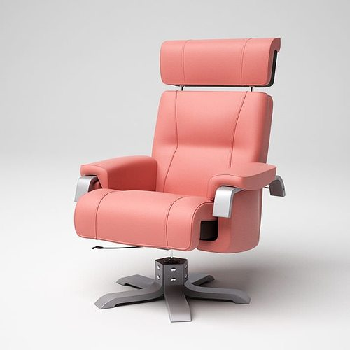 Pink Modern Office Chair 06 Am5 3d Model Obj