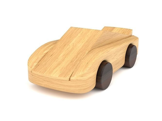 Wooden toy car 40