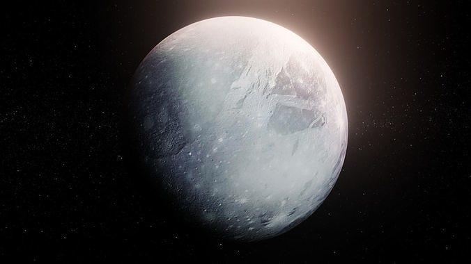 Photorealistic Pluto 8k Textures 3D Model