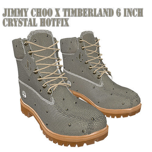 Jimmy Choo X Timberland 6 Inch Crystal Hotfix Boot low Poly PBR