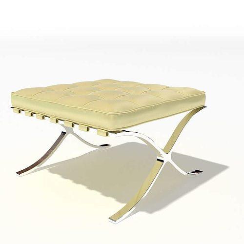 white modern stool 09 am45 3d model  1