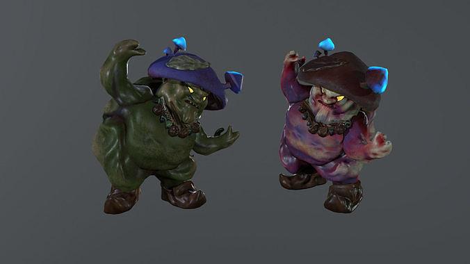 Angry Mushroom 3D character