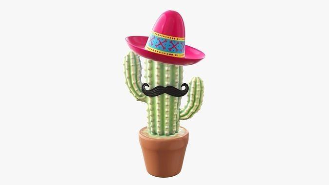 Stylized decorative cactus
