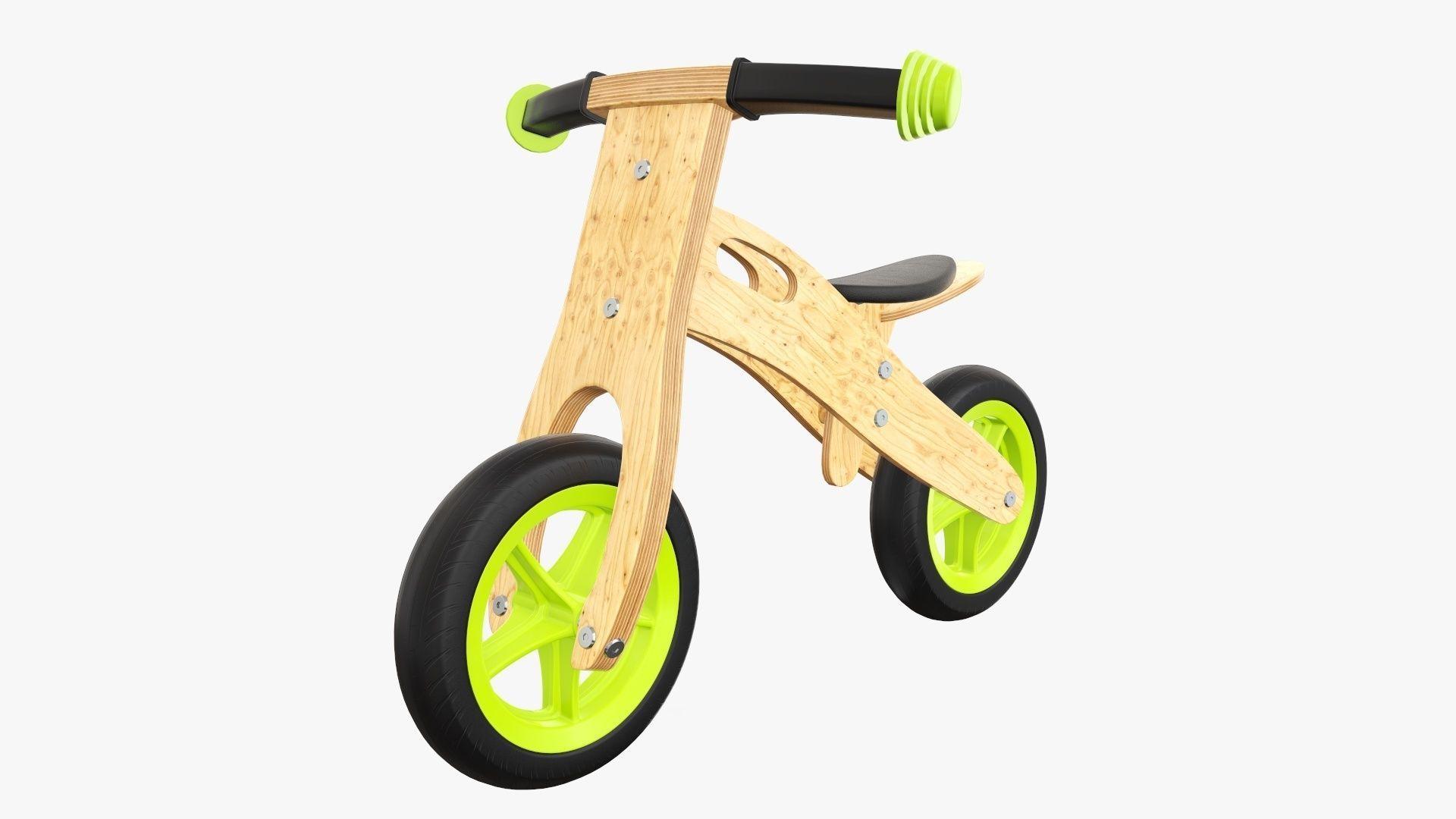 Balance bike for kids wooden v2