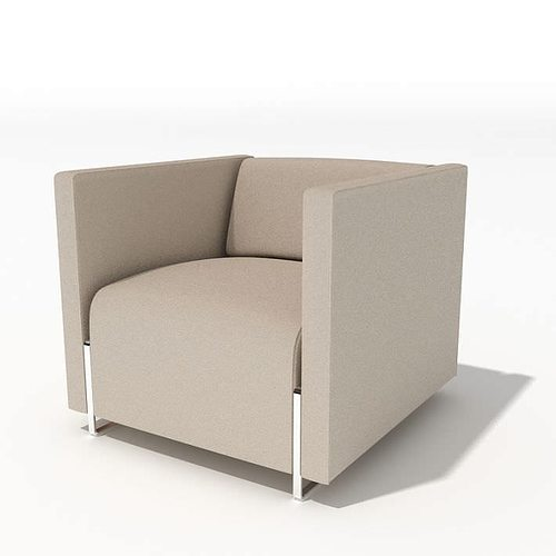 Modern Arm Chair grey modern armchair 34 am45 3d | cgtrader