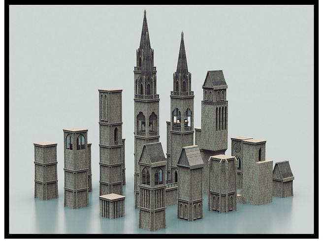 Medieval Tower Kitbash