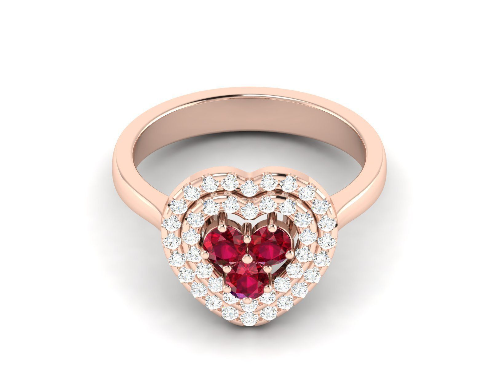 Women heart ring 3dm render detail