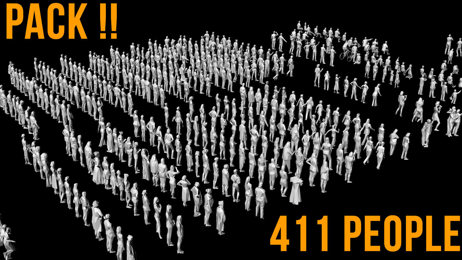 411 Stylized Human Crowd People Pack