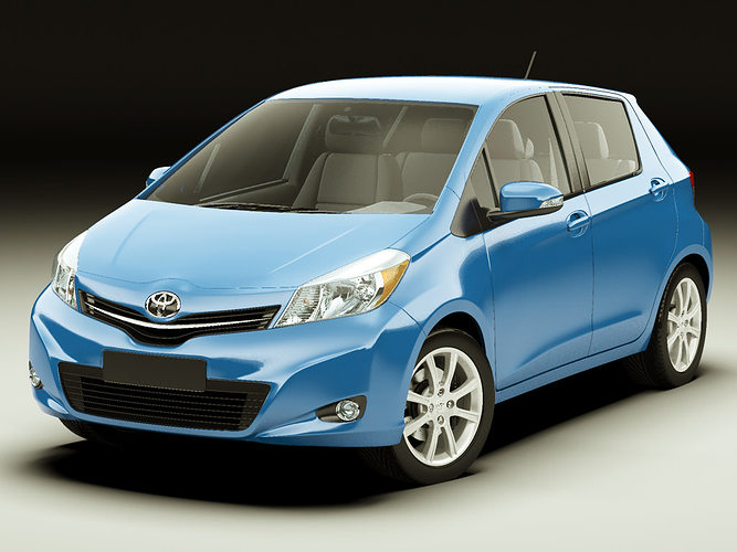 3d Model Toyota Yaris Vitz Jewela 2012 Cgtrader