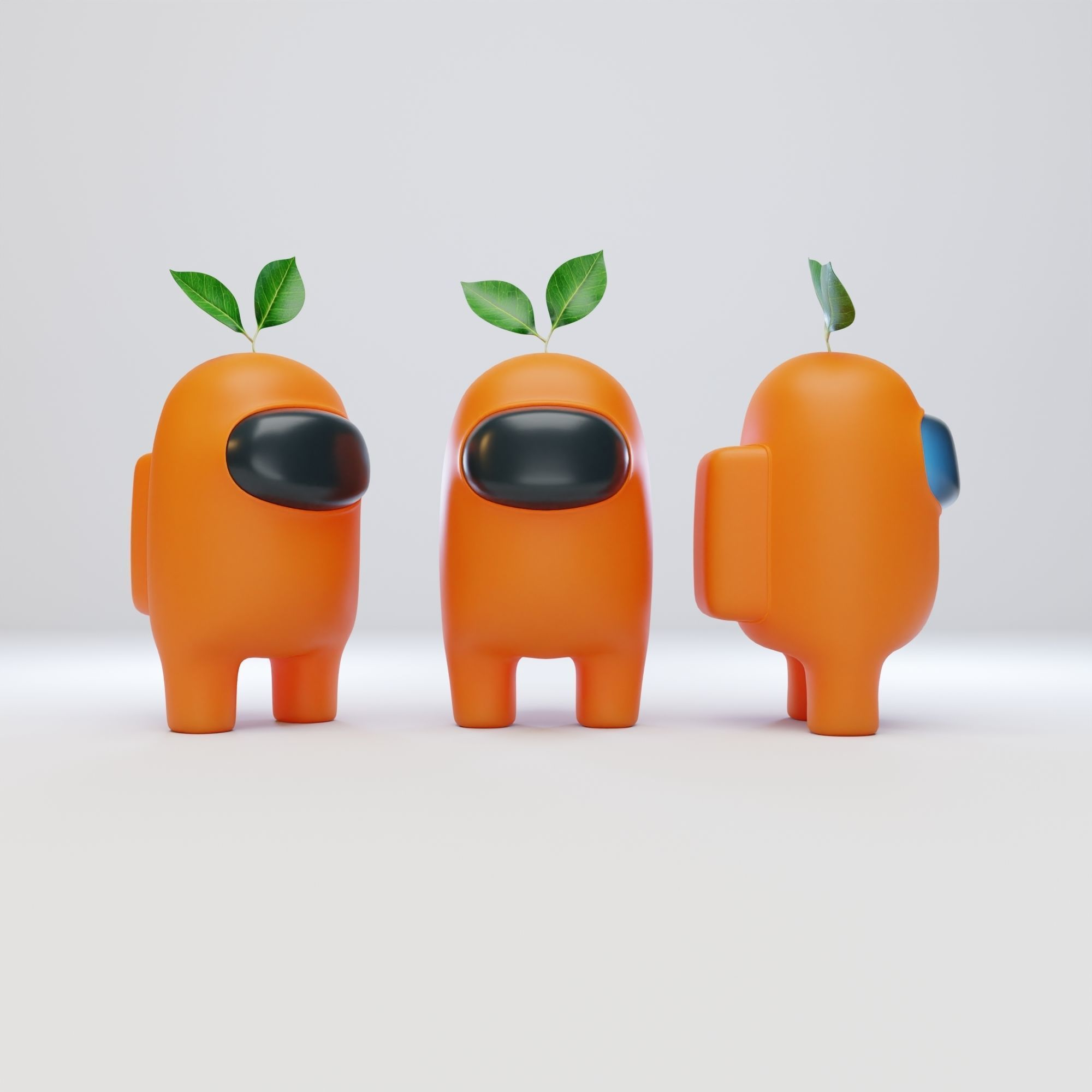 Among Us Plant Hat Character