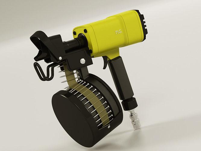 Nail Gun 3D model | CGTrader