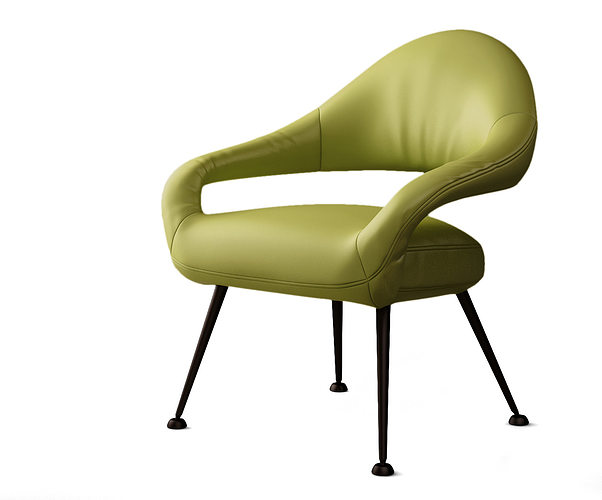Poltrona frau italia letizia armchair 3d cgtrader for Poltrona 3d