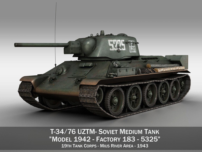 T-34-76 UZTM- Model 1942 - Soviet tank - 5325